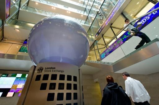 Le hall de la Bourse de Londres, le 7 mars 2013 © LEON NEAL AFP/Archives