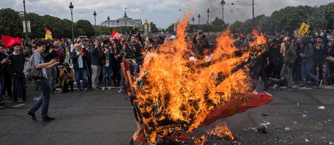 Les manifestations hostiles à la loi travail se multiplient et dégénèrent. ©Denis Meyer