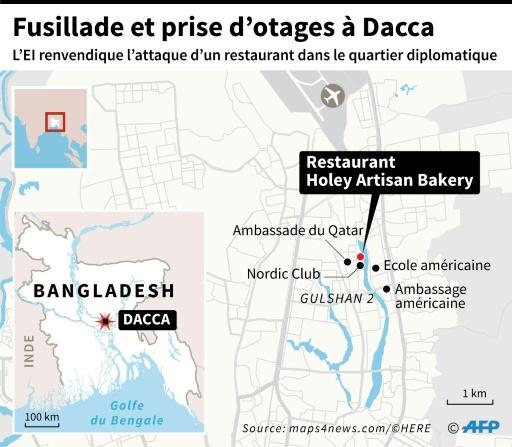 Fusillade et prise d'otages à Dacca © Paz PIZARRO AFP