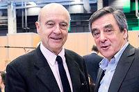 Alain Juppé et Francois Fillon au conseil national des Républicains, le 13 fevrier 2016. ©Christophe Morin / IP3