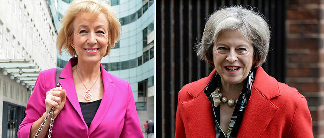 Andrea Leadsom (a gauche) et Theresa May (a droite).