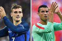 Qui, de Cristiano Ronaldo ou d'Antoine Griezmann, guidera son équipe vers le sacre à l'Euro ? ©Bertrand LANGLOIS