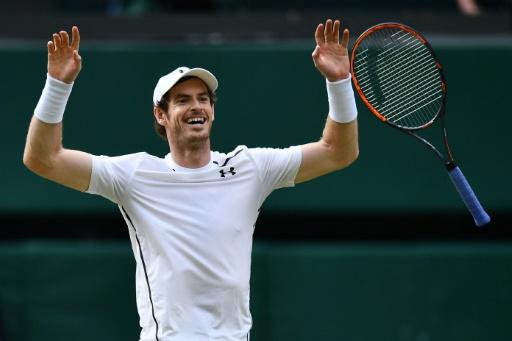 Le Britannique Andy Murray, vainqueur de Wimbledon, le 10 juillet 2016 © LEON NEAL AFP