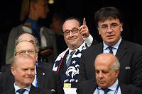 Le président François Hollande, ici pendant la demi-finale contre l'Allemagne, insiste sur le succès de l'organisation de la compétition. ©Peter Kneffel