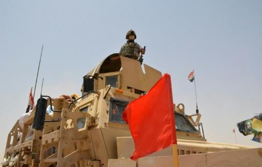 Les forces irakiennes le 22 juin 2016 en opération à proximité de Qayyarah © Mahmud Saleh AFP/Archives
