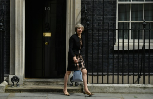 Theresa May devant le 10 Downing Street, le 5 juillet 2016 à Londres © BEN STANSALL AFP/Archives