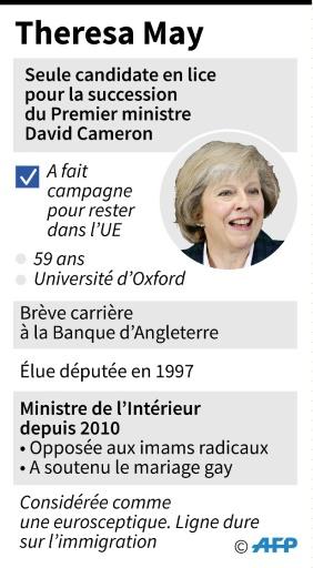 Theresa May © Jonathan JACOBSEN, Iris ROYER DE VERICOURT AFP