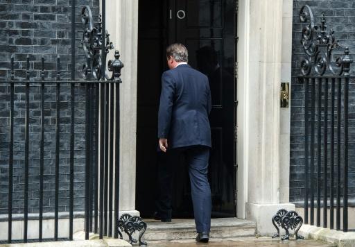 Le Premier ministre britannique démissionnaire David Cameron, le 11 juillet 2016 à Londres © CHRIS J RATCLIFFE AFP