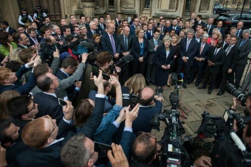Theresa May devant le Parlement britannique, le 11 juillet 2016 à Londres © CHRIS RATCLIFFE AFP