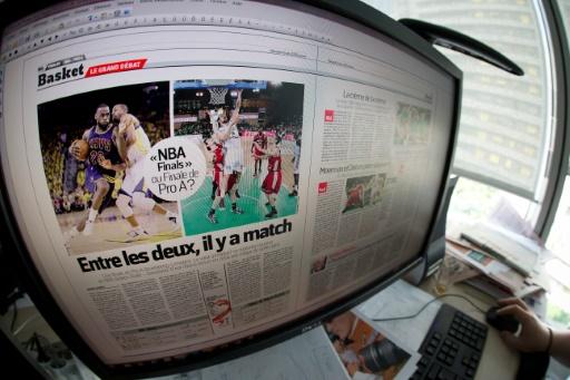 """L'Equipe veut se positionner comme """"un groupe plurimédias"""", selon le directeur général du groupe, Cyril Linette © JOEL SAGET AFP/Archives"""