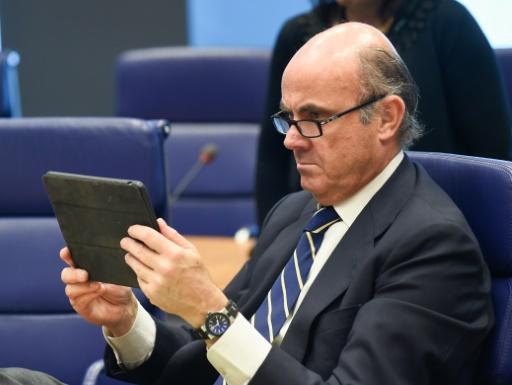 Le ministre espagnol de l'Economie Luis de Guindos à Luxembourg le 16 juin 2016 © JOHN THYS AFP/Archives