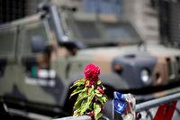 Devant l'ambassade de France à Rome. ©Max Rossi