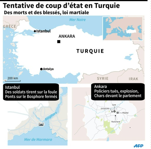 Turquie: tentative de coup d'état © Sophie HUET-TRUPHEME AFP