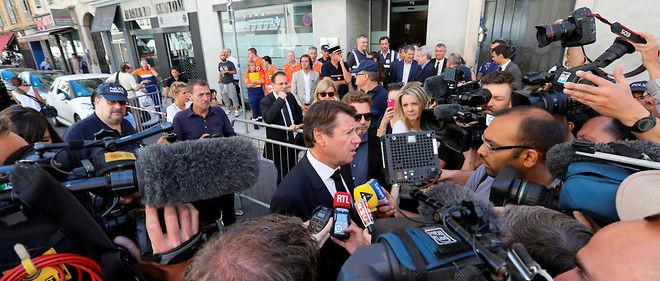 Le président de Paca et de la métropole de Nice, Christian Estrosi, le 16 juillet. Estrosi accuse les services de l'État de n'avoir pas pris les mesures permettant d'assurer la sécurité lors du feu d'artifice dans la ville le 14 juillet.