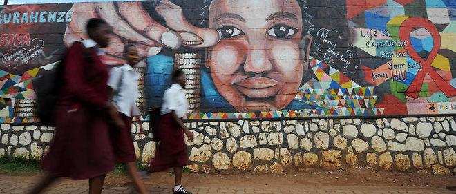 Au Rwanda, à Kigali. Selon l'Unicef, le sida reste «la première cause de mortalité» chez les jeunes âgés de 10 à 19 ans en Afrique.