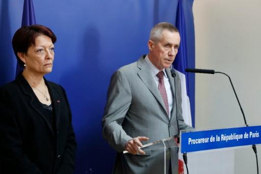 Le procureur de la République de Paris, François Molins, et Mireille Ballestrazzi, présidente d'Interpol, à Paris le 18 juillet 2016 © FRANCOIS GUILLOT AFP