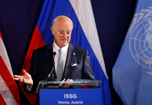 L'envoyé spécial de l'ONU pour la Syrie, Staffan de Mistura, à Vienne le 17 mai 2016 © LEONHARD FOEGER POOL/AFP/Archives