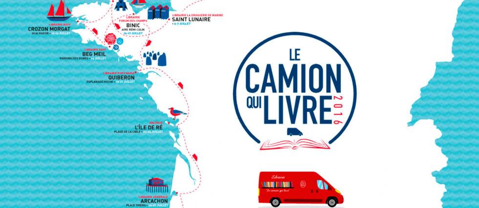 """""""Le camion qui livre"""" sillonne la France tout l'été."""