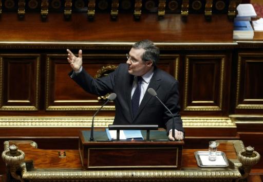 Le président LR de sa commission des Lois du Sénat, Philippe Bas, à Paris le 16 mars 2016 © FRANCOIS GUILLOT AFP/Archives