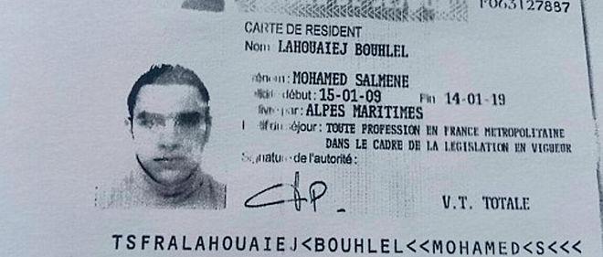 Le titre de séjour du tunisien Mohamed Lahouaiej Bouhlel.