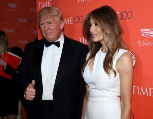 Donald Trump et son épouse Melania, à New York le 26 avril 2016 © TIMOTHY A. CLARY AFP