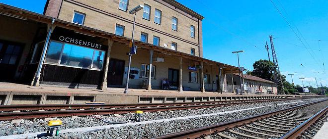 La gare d'Ochsenfurt, en Allemagne, où l'auteur de l'attaque est monté dans un train.