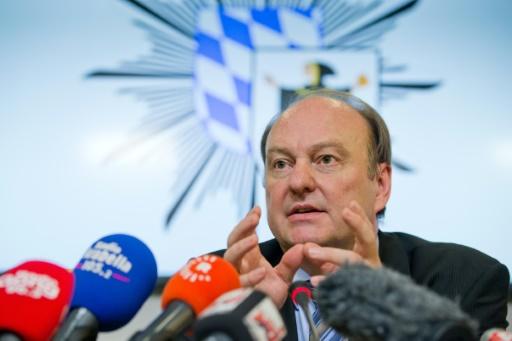 Le chef de la police de Munich, Hubertus Andrä, lors d'une conférence de presse à Munich, le 23 juillet 2016 © Daniel Karmann dpa/AFP