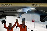 L'avion Solar Impulse 2 était piloté par le Suisse Bertrand Piccard. ©KARIM SAHIB