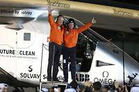 Bertrand Piccard et André Borschberg ont pu compter sur le soutien de l'aéronautique française. ©© Jack Jabbour / Reuters
