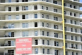 Des logements neufs en construction le 29 août 2014 à Montpellier ©PASCAL GUYOT