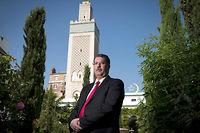 Anouar Kbibech, président du Conseil français du culte musulman : «Nous sommes tous des catholiques de France. » ©JOEL SAGET