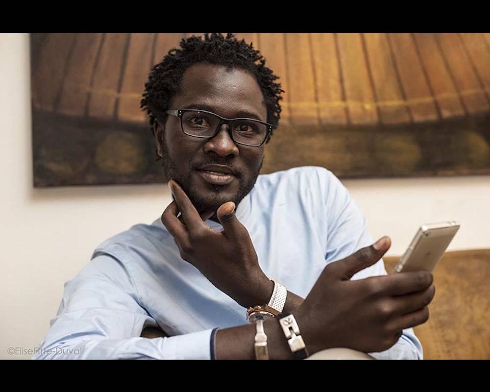 Cheikh Fall, blogueur reconnu à travers l'Afrique, a été à l'origine du sommet des Africtivistes à Dakar en novembre 2015.  ©  Elise Fitte-Duval