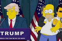 En mars 2016 déjà, un épisode montrait ce que deviendrait l'Amérique si Trump était élu. Le slogan du candidat : L'Amérique peut devenir mon ex-femme !