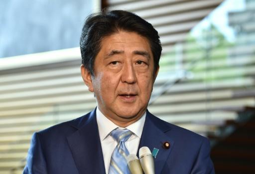 Le Premier ministre japonais Shinzo Abe le 3 août 2016 à Tokyo © KAZUHIRO NOGI AFP