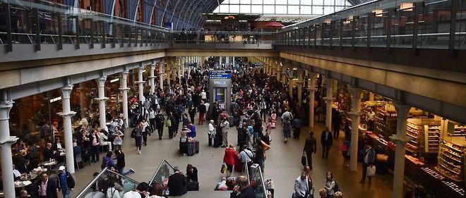 Le terminal de Saint-Pancras, à Londres, en juin 2015, un jour d'annulation d'Eurostar du fait d'une grève.