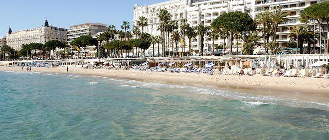Une plage de Cannes (image d'illustration).