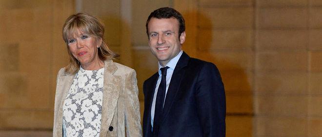 Emmanuel Macron et sa femme Brigitte Trogneux.