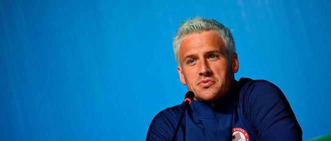 Ryan Lochte en conférence de presse le 3 août à Rio.