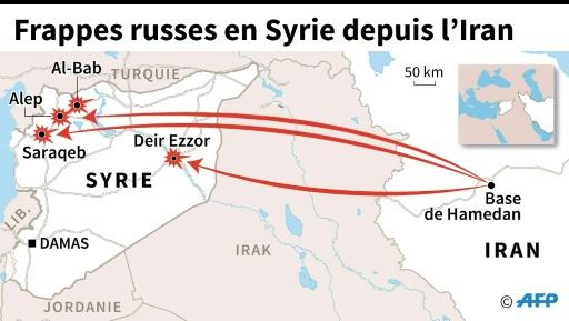 Frappes russes en Syrie depuis l'Iran © Jonathan WALTER AFP