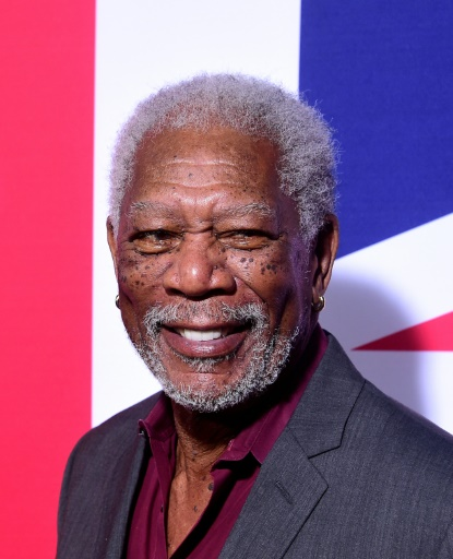 "Morgan Freeman le 1er mars 2016 à Hollywood, lors de la première du film ""London Has Fallen"" © FREDERIC J. BROWN AFP/Archives"