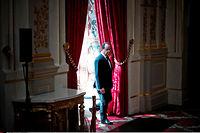 Introspection. François Hollande dans les salons de l'Élysée, le 22 juillet. ©Nicolas Messyasz/SIPA