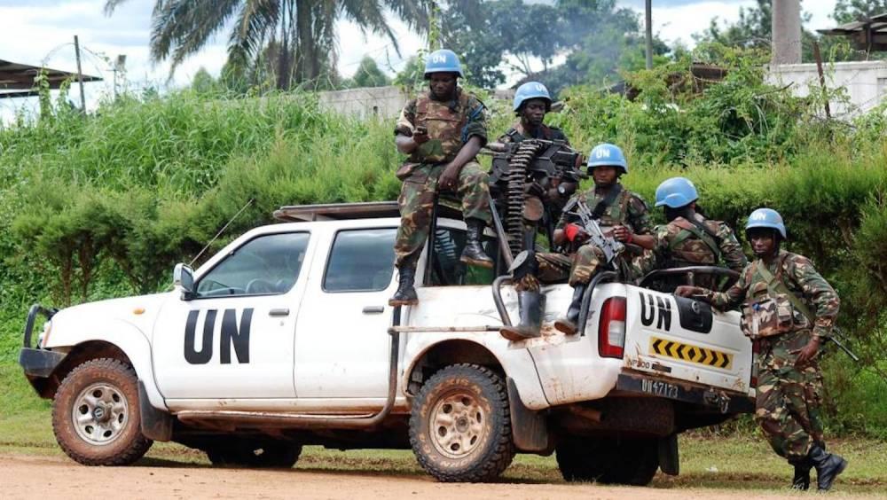 Des soldats de la Monusco, le 23 octobre 2014 à Béni en RDC. ©  AFP/Alain Wandimoyi