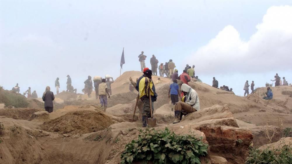 La mine de coltan de Rubaya, dans l'est de la République démocratique du Congo (RDC), le 28 mai 2013. ©  afp.com/Junior D. Kannah