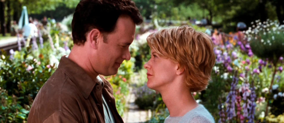Tom Hanks et Meg Ryan en 1998 dans Vous avez un message.