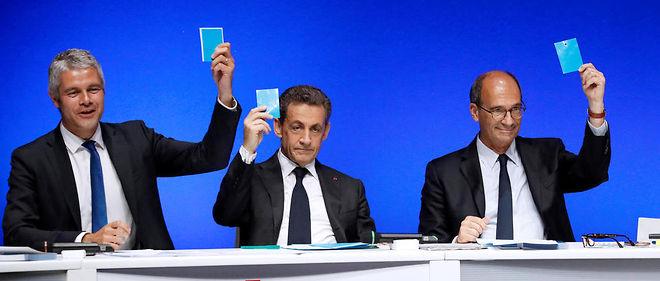 Laurent Wauquiez succède à Nicolas Sarkozy à la tête de LR, Éric Woerth est secrétaire général.
