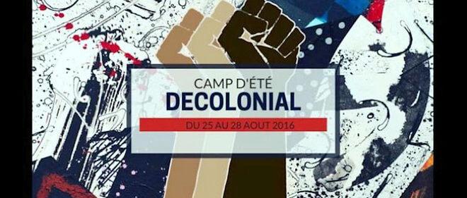 """Affiche de la manifestation """"Le camp décolonial"""", organisé du 25 au 28 août à Reims."""