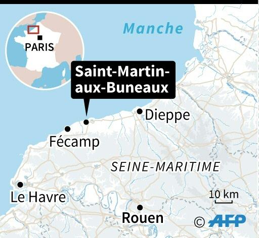 Eboulement de falaise en Seine-Maritime © AFP AFP