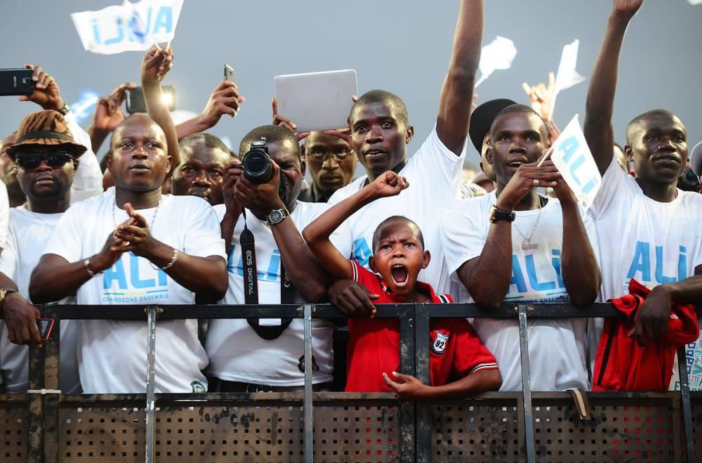 Les partisans venus écouter Ali Bongo Ondimba lors de son premier meeting de campagne le 13 août 2016.  ©  WPP
