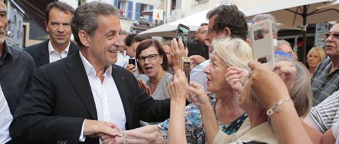 Nicolas Sarkozy après une séance de dédicaces à Ajaccio, le 13 juillet dernier.