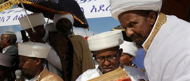 Les leaders religieux de la communauté juive éthiopienne en Israël.